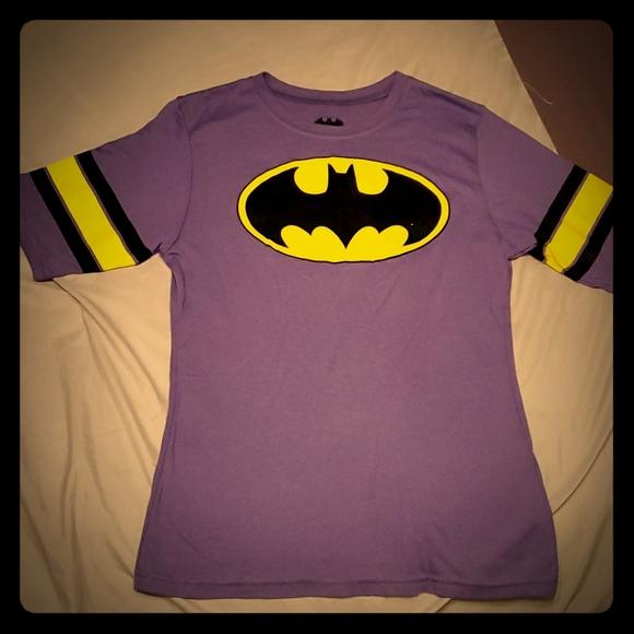 Batman Tops - Nwot Batman Purple & Yellow Junior's L T-shirt